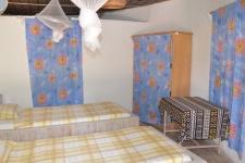 Chambre dans case traditionnelle